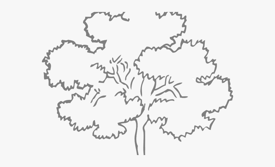 forest clipart black and white sketch