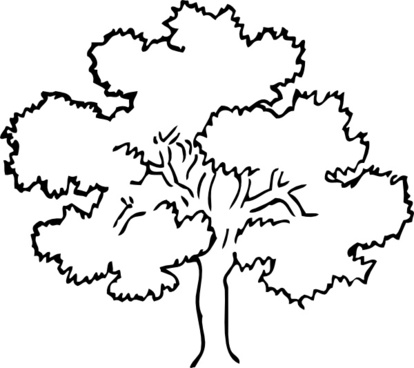 forest clipart black and white