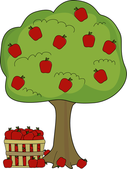 Apple tree with.