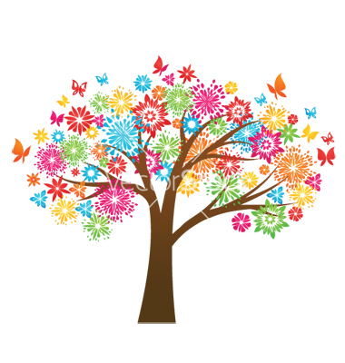 Colorful tree clipart