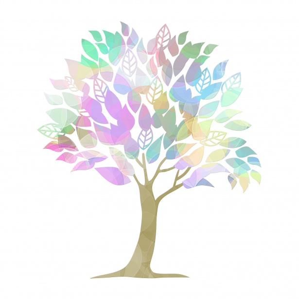 Tree Colorful Clipart Illustration Free Stock Photo