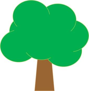Trees cute clipart.