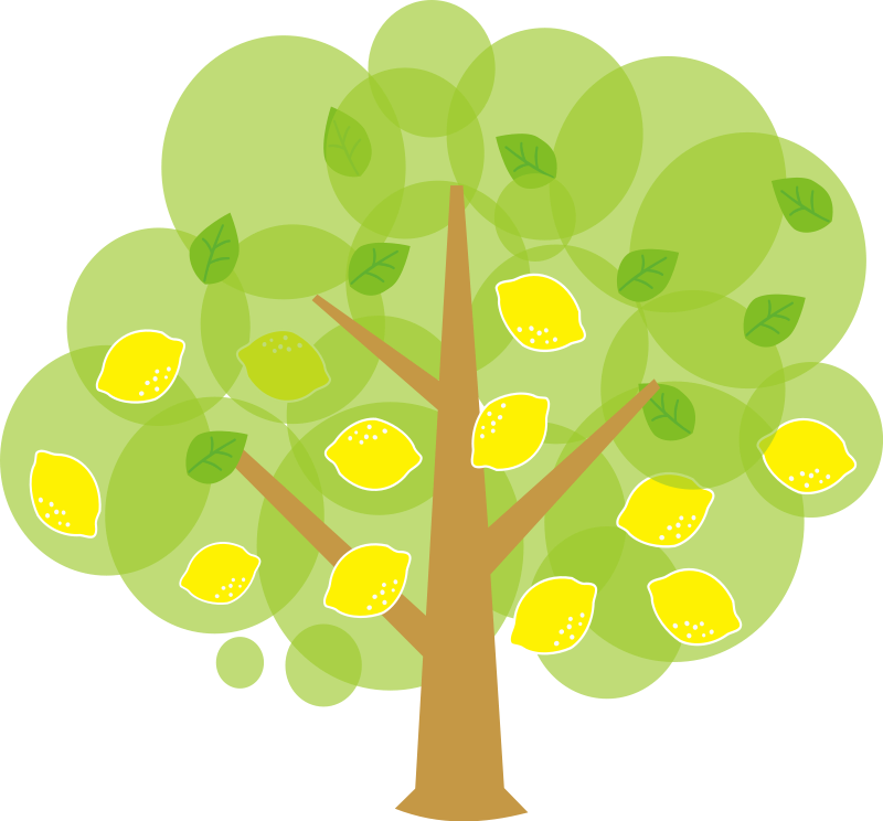 Free cute lemon tree clip art