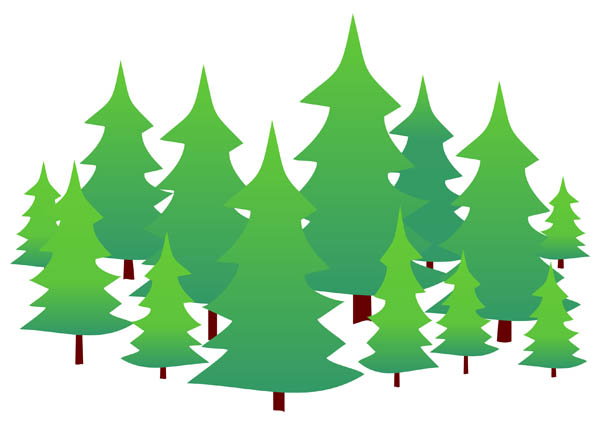 Evergreen trees free clip art
