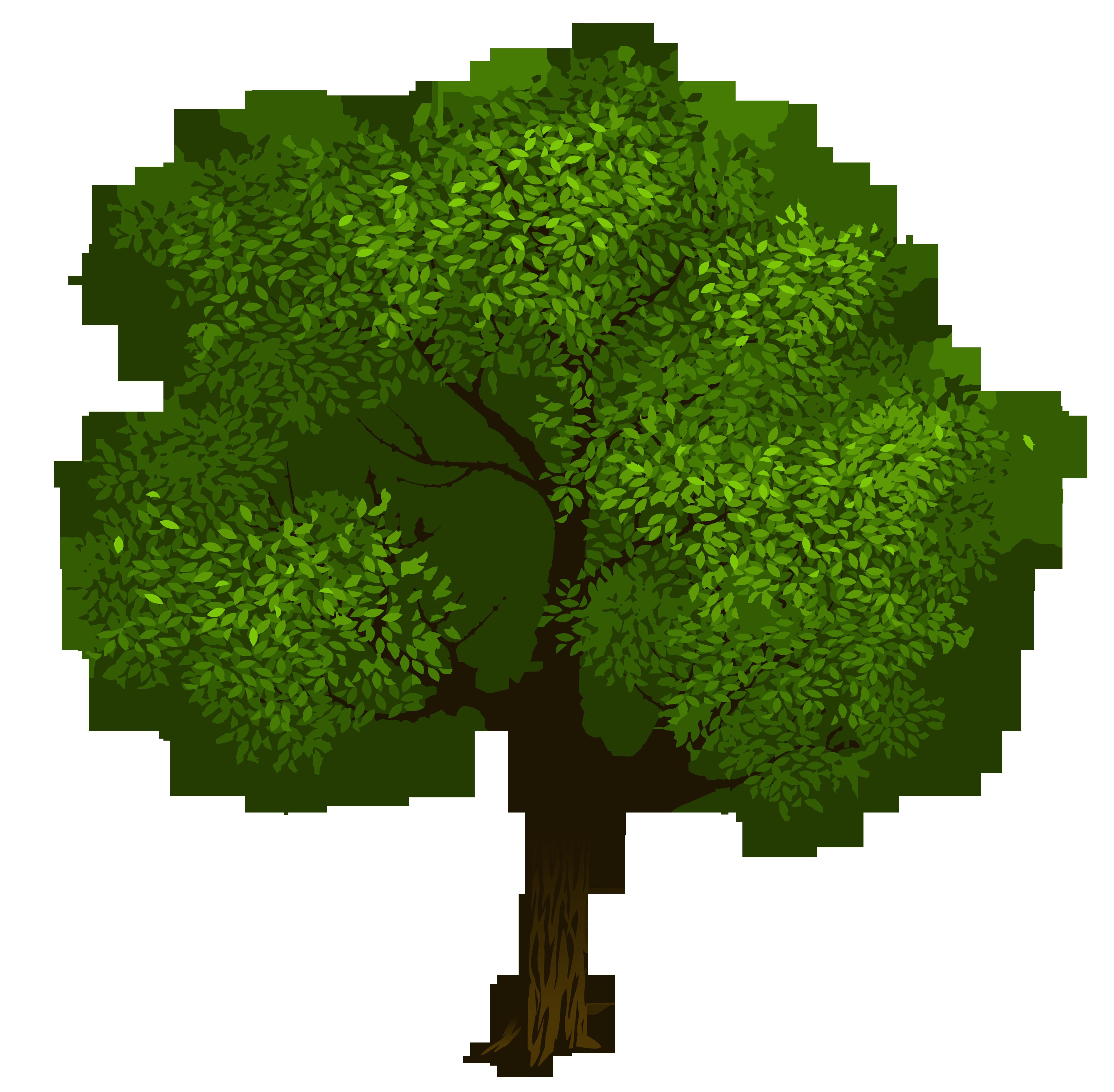 Transparent green tree.