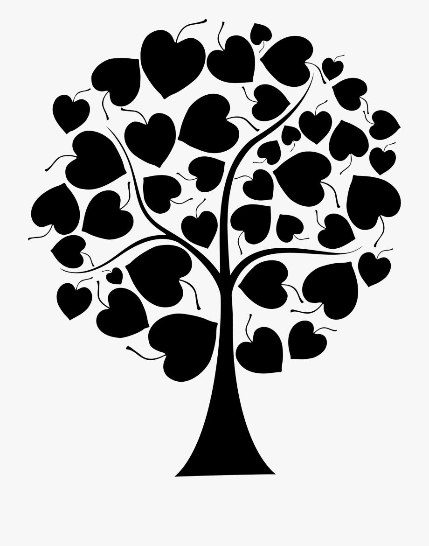 Heart clipart tree.