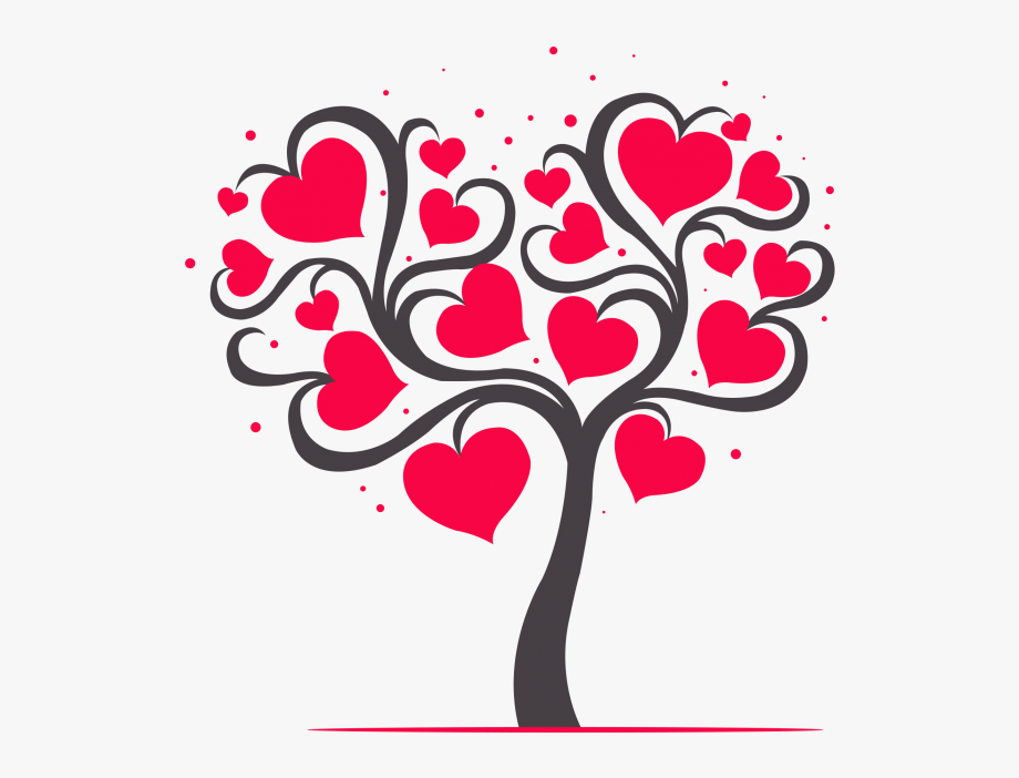 Transparent Heart Tree Clipart