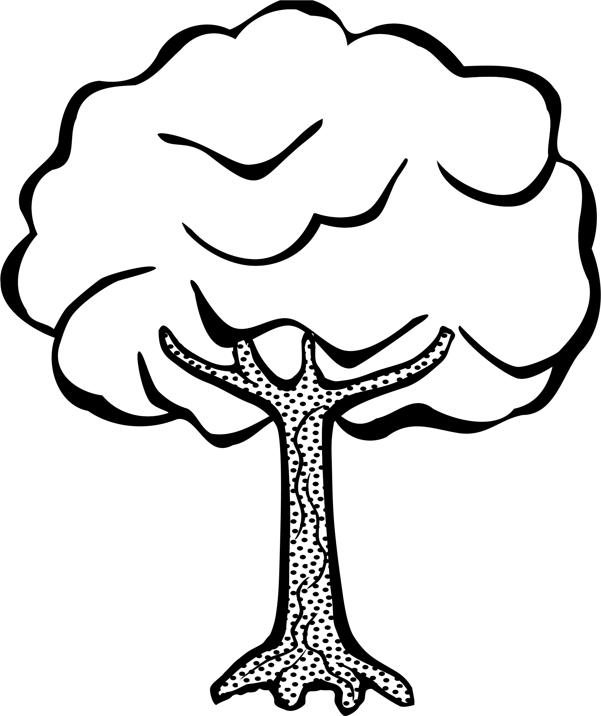 HD Line Art Tree