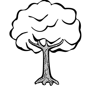Tree clipart black.