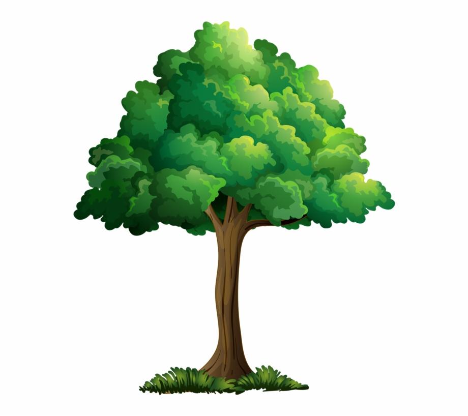 cartoon trees.
