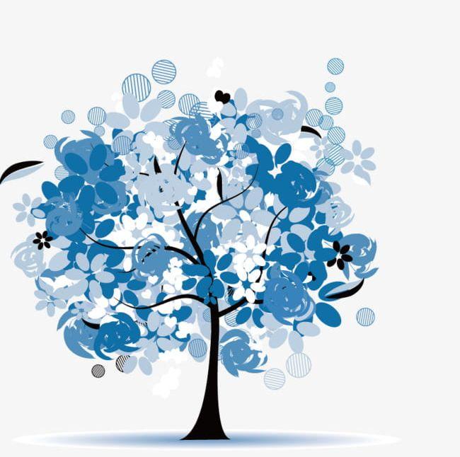 Blue life tree.
