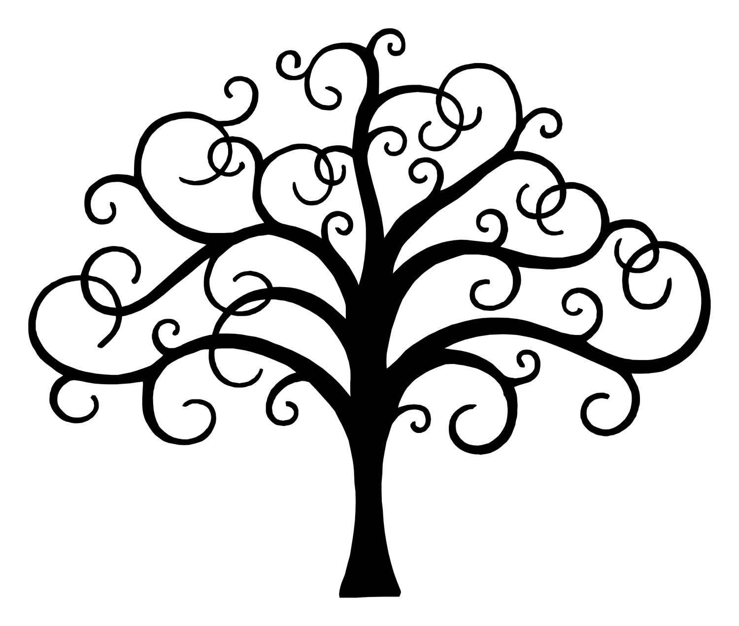 Whimsical tree clipart.