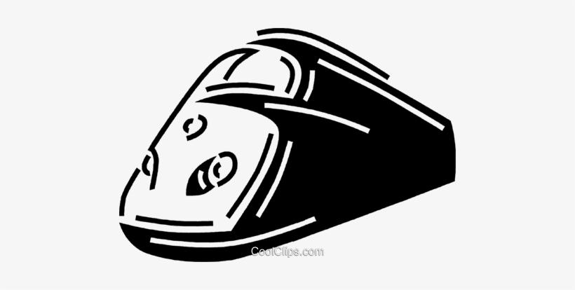 Bullet Train Royalty Free Vector Clip Art Illustration