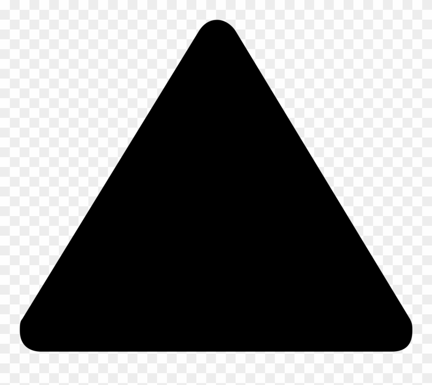Black Triangle Transparent Background Cl