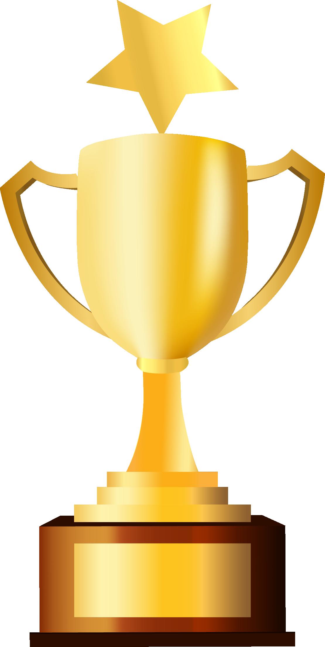 Trophy prize clip.