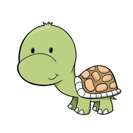 Animated baby turtle.