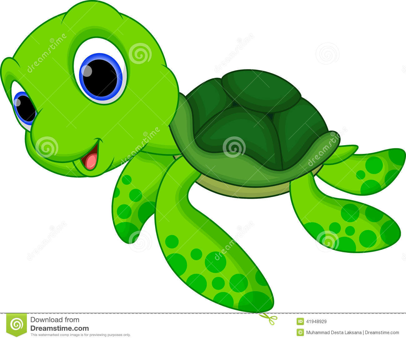 Sea turtle cartoon.