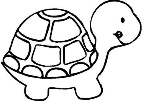 Turtles clipart black.