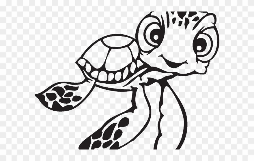 Drawn sea turtle.