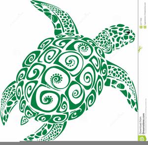 Hawaiian turtles clipart.