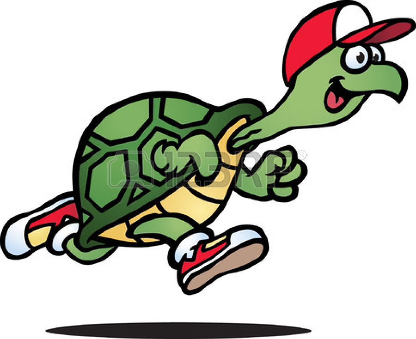 Slow racing turtle.