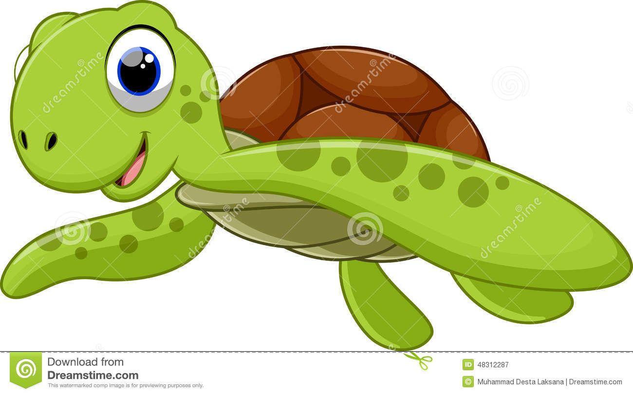 Swimming turtle clipart.