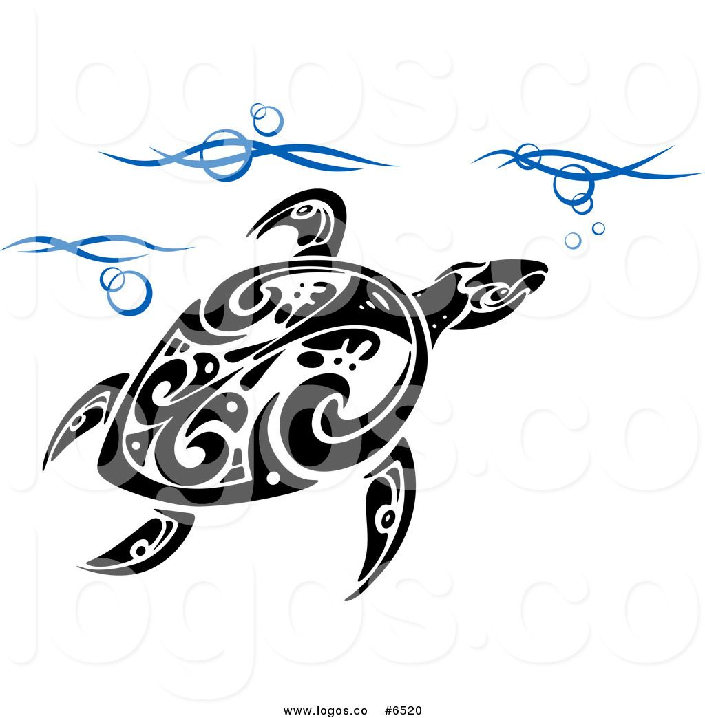 turtle clipart tribal