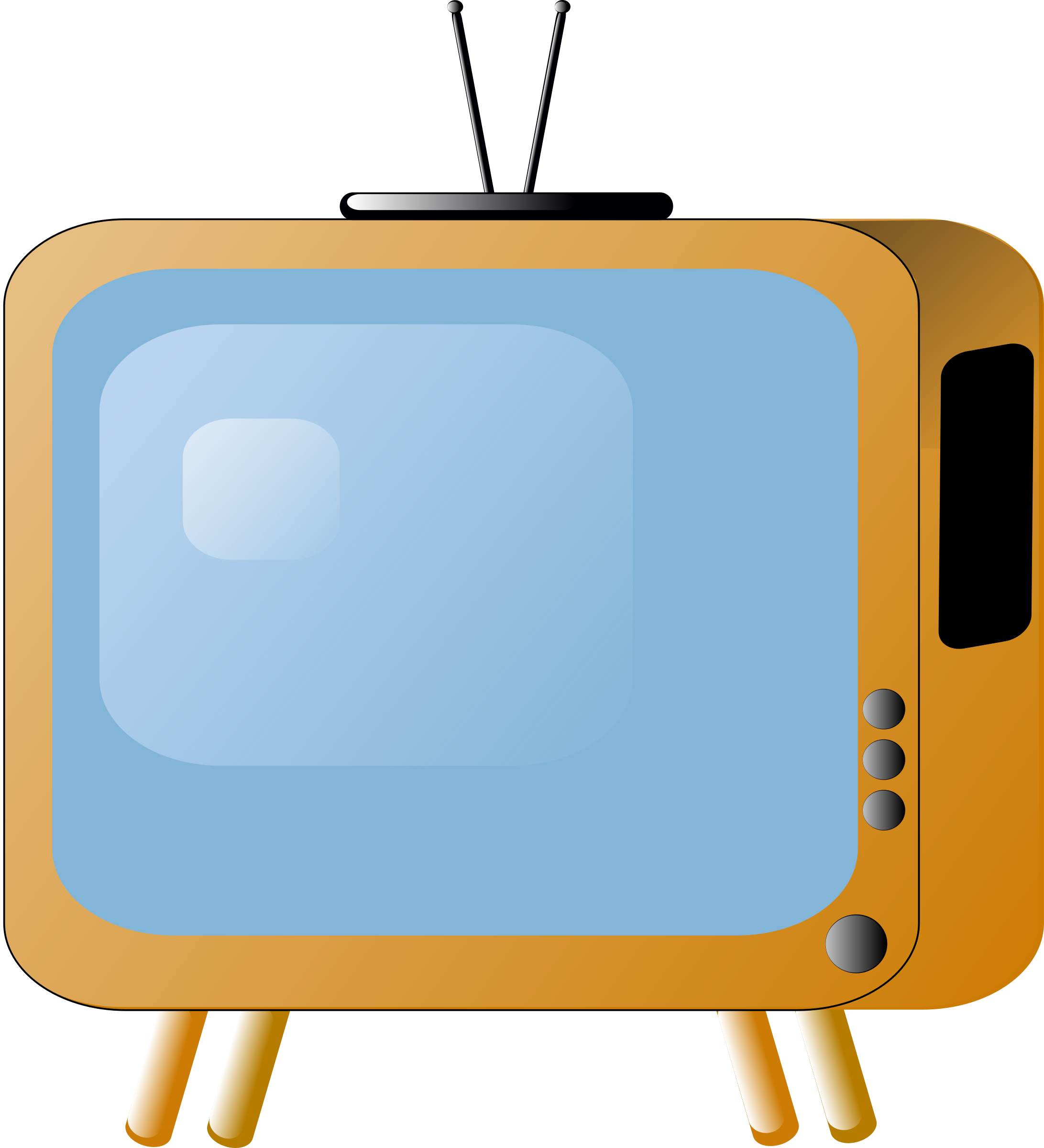 Television clipart old fashioned, Television old fashioned