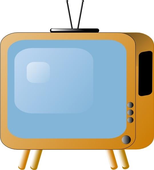 Tv clipart vector.