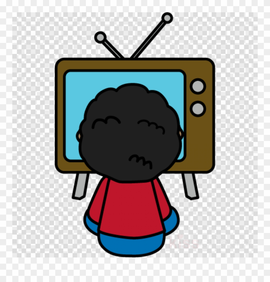 Watching clipart television.