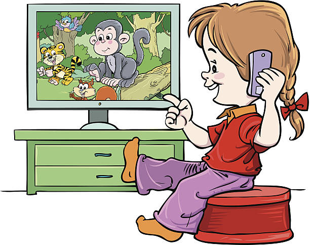 Watching clipart child.