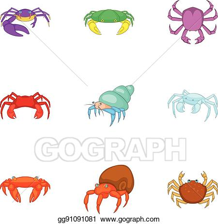 Vector art crustaceans.