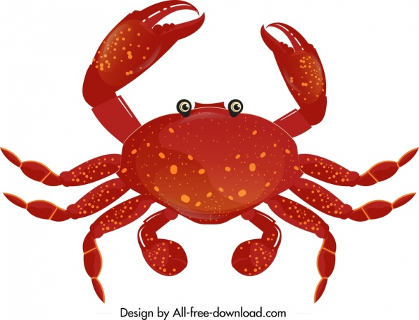 Crab icon template.