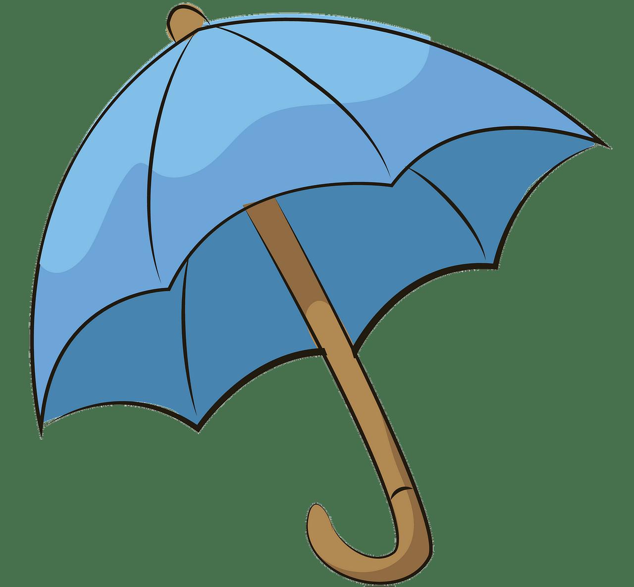 Blue umbrella clipart.