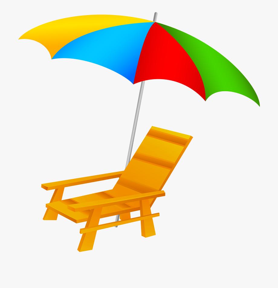 Beach umbrella and.