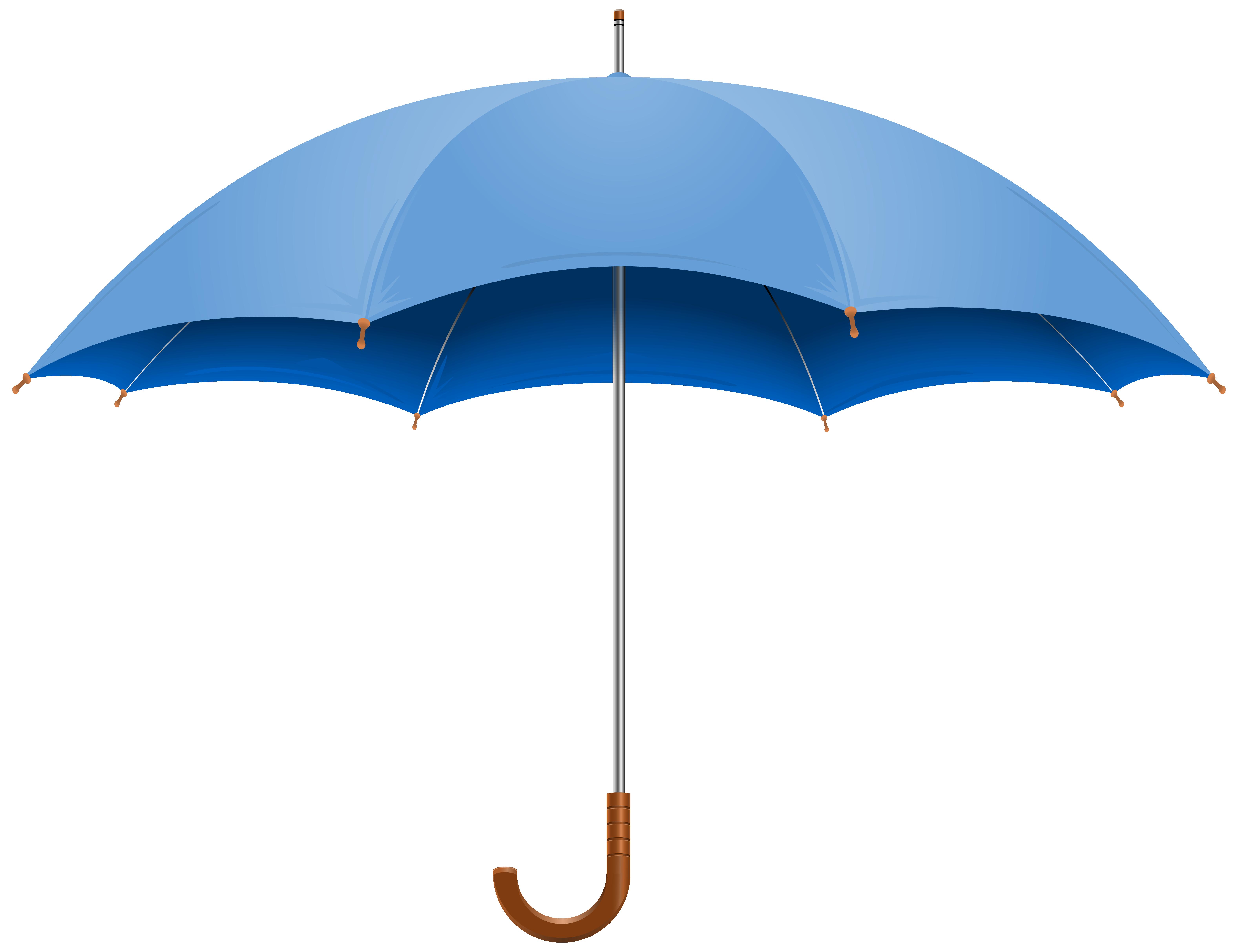 Blue Open Umbrella PNG Clipart Image