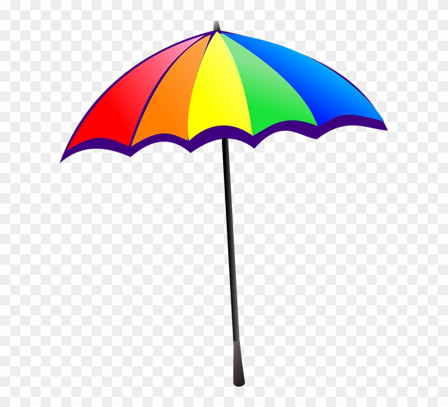 Umbrella rainbow colorful.