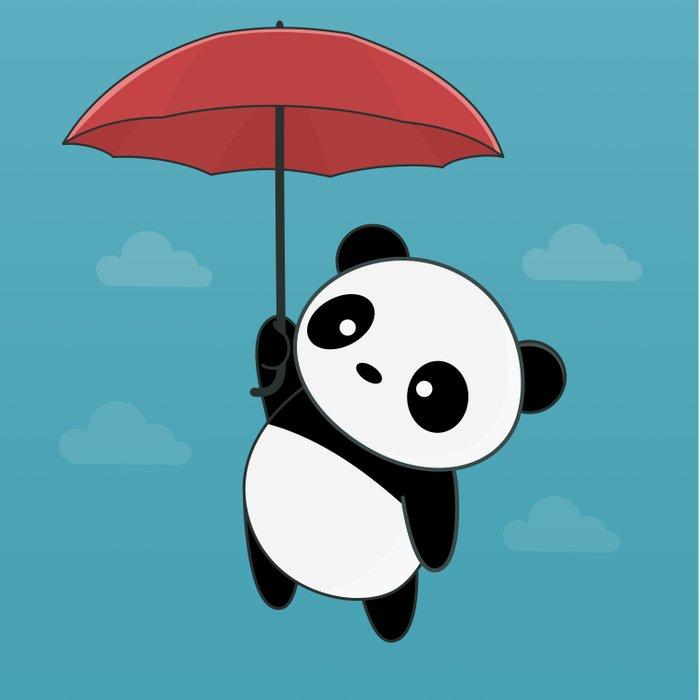 Kawaii cute panda.