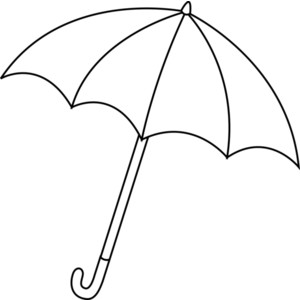 Umbrella clipart black.