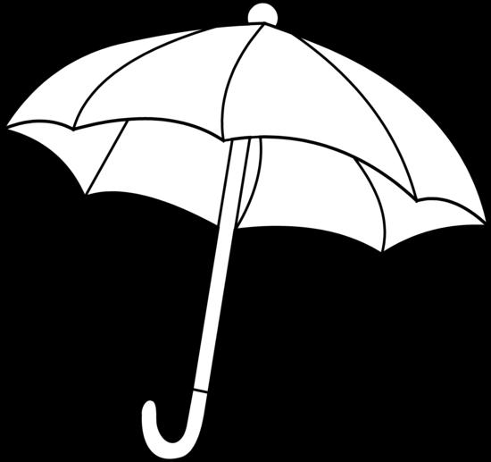 Free umbrella outline.
