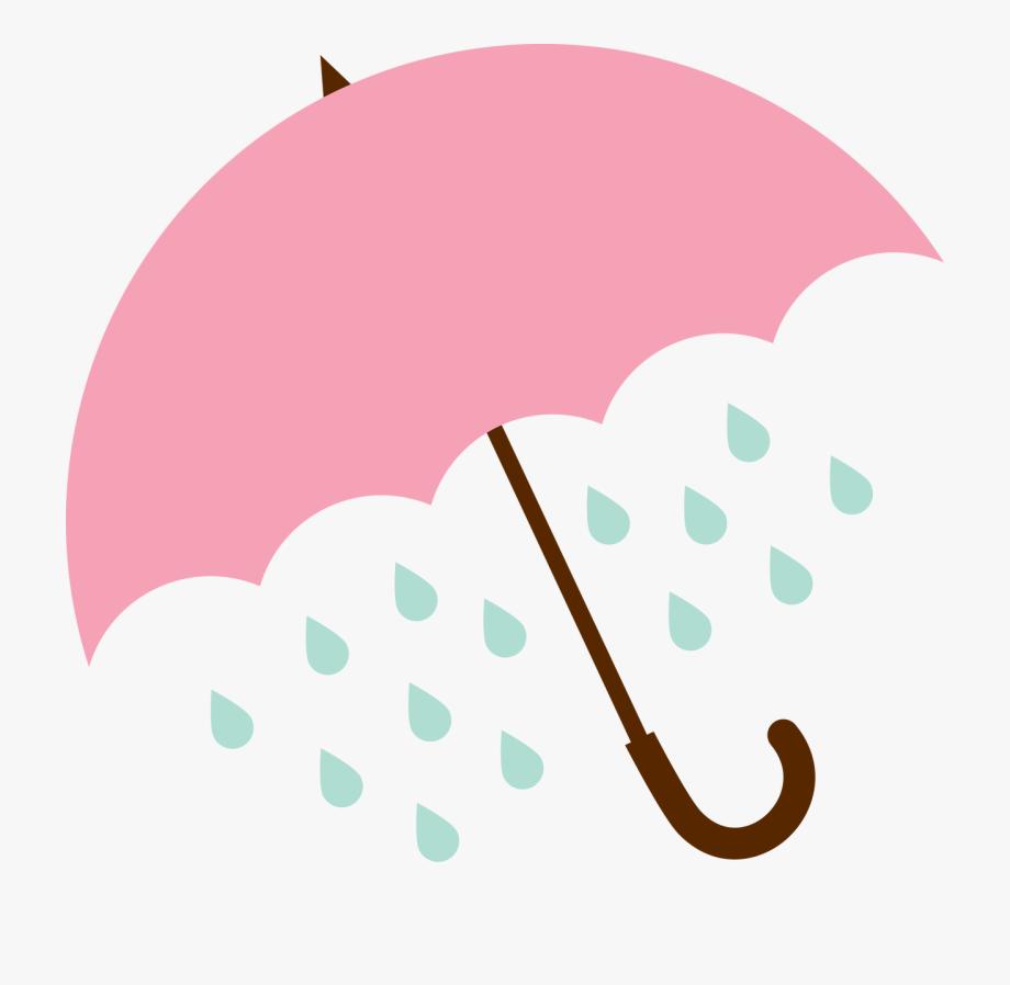 Umbrella and rain.