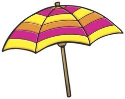 Free beach umbrella.