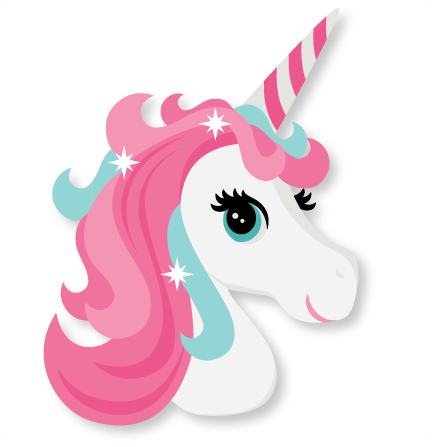Cartoon unicorn clipart.