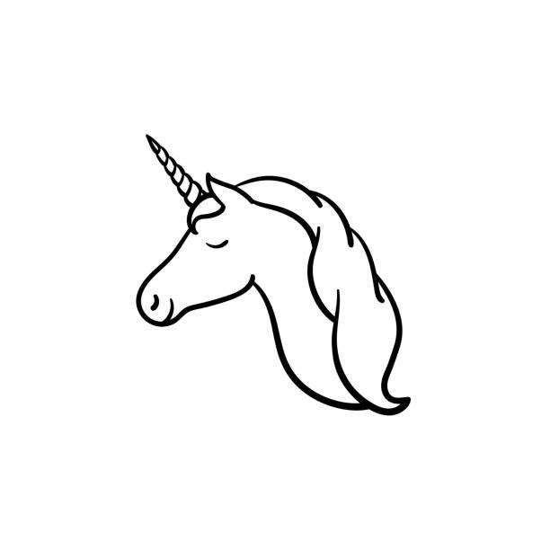 Head clipart unicorn.