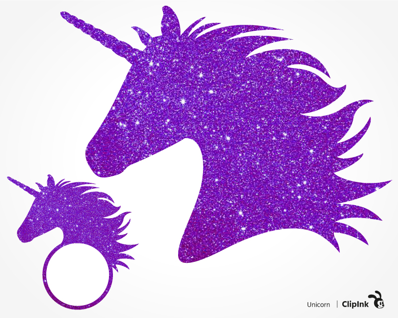 Glitter unicorn svg.