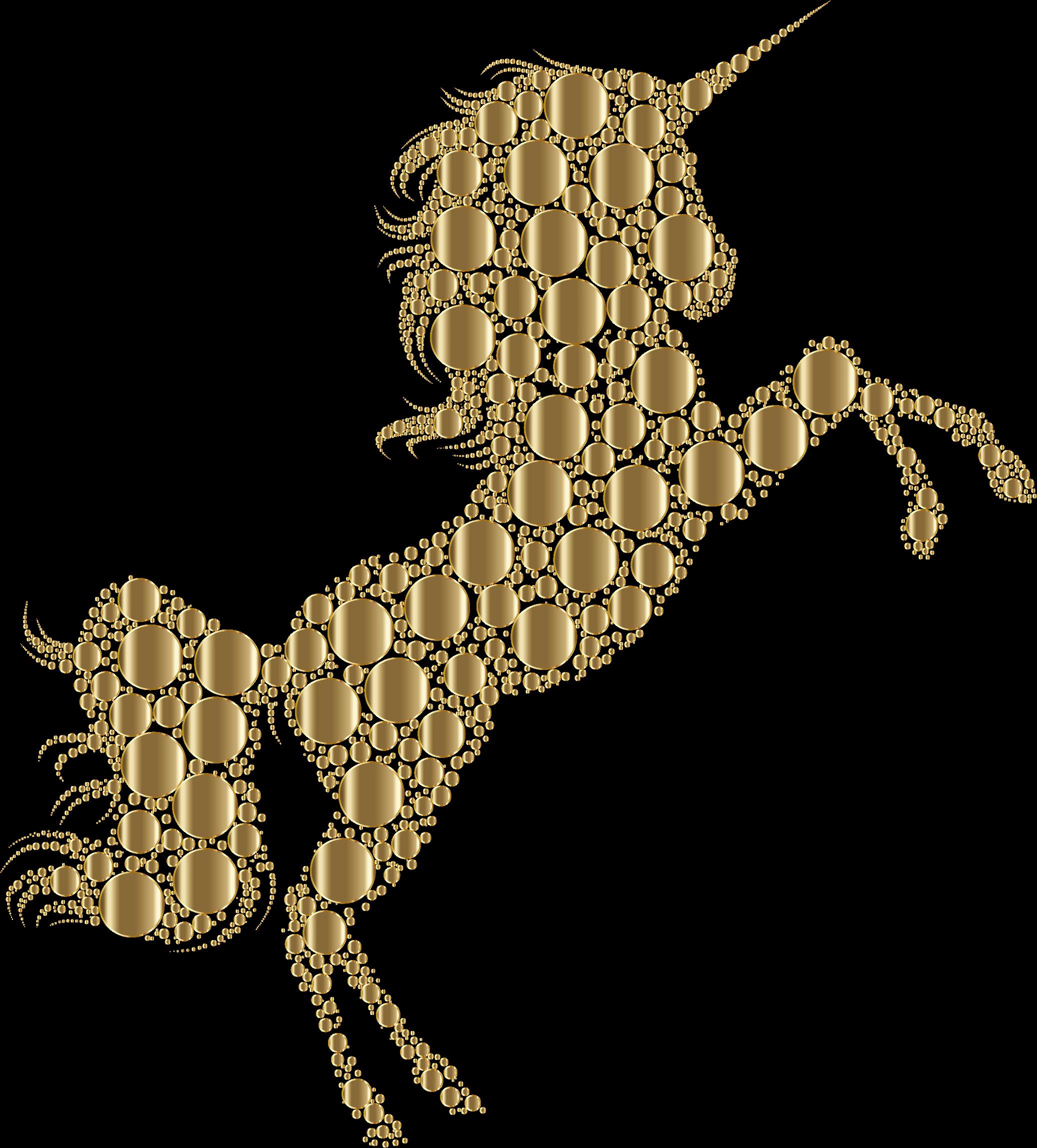 Horse unicorn silhouette.