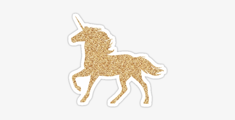 Glitter gold unicorn.