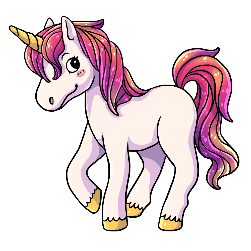 Clipart unicorn high.