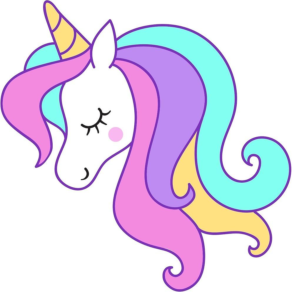 Head unicorn clipart.