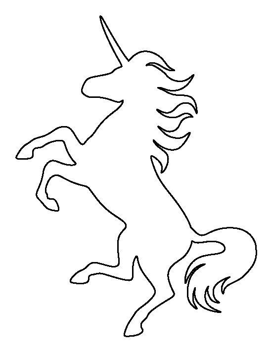 Unicorn outline pattern use.